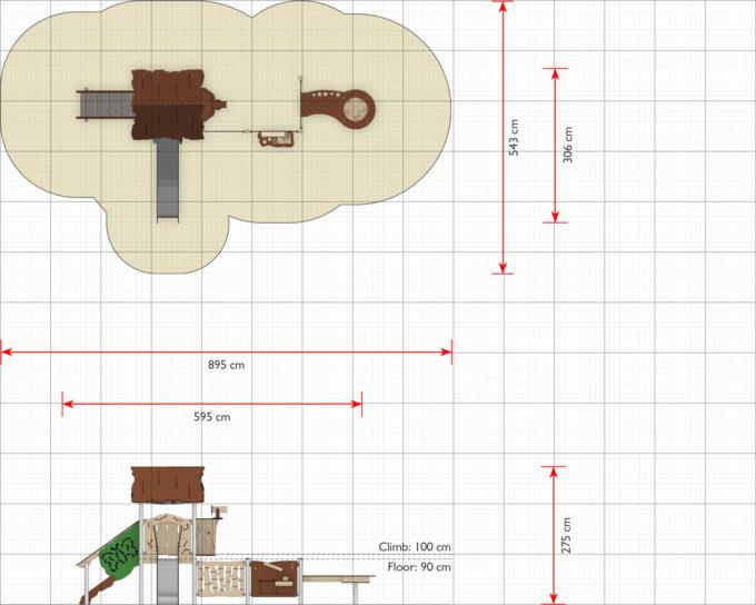 Spielanlage Caja - inkl. Rutsche, Treppe & Matschtisch - LEDON Explore - EX114 2
