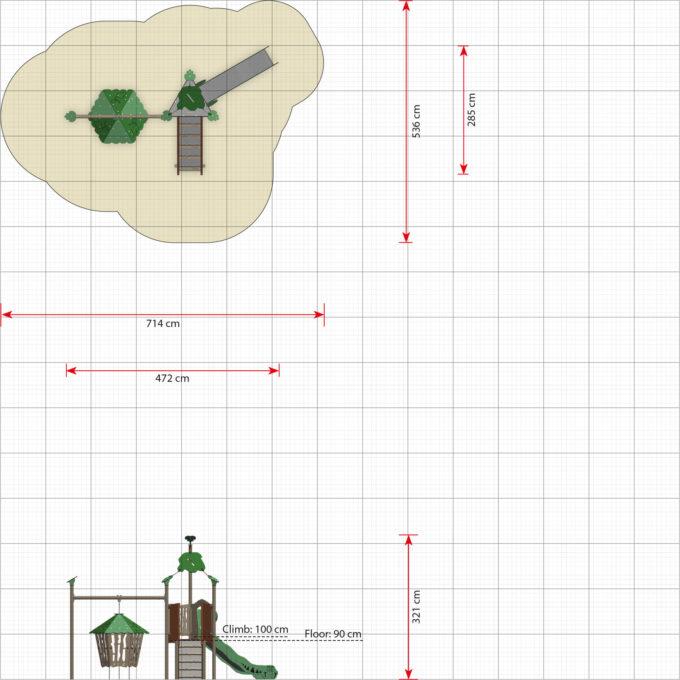 Spielanlage Suri - inkl. Rampe, Rutsche & schwingender Hütte - LEDON Explore - EX135 3