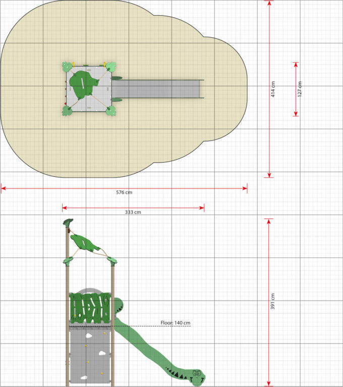 Spielturm Roka - inkl. Rutsche & Kletterwand - LEDON Explore - EX140 2
