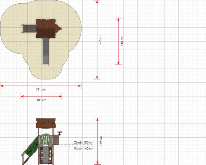 Spielturm Bona - inkl. Rutsche,Treppe & Tic Tac Toe - LEDON Explore - EX141 2