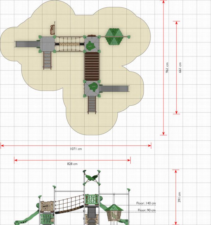 Spielanlage Groß Virok - LEDON Explore - EX365 2