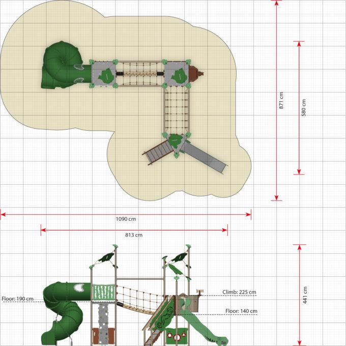 Spielanlage Zulu mit Spiralröhrenrutsche - LEDON Explore - EX375 2