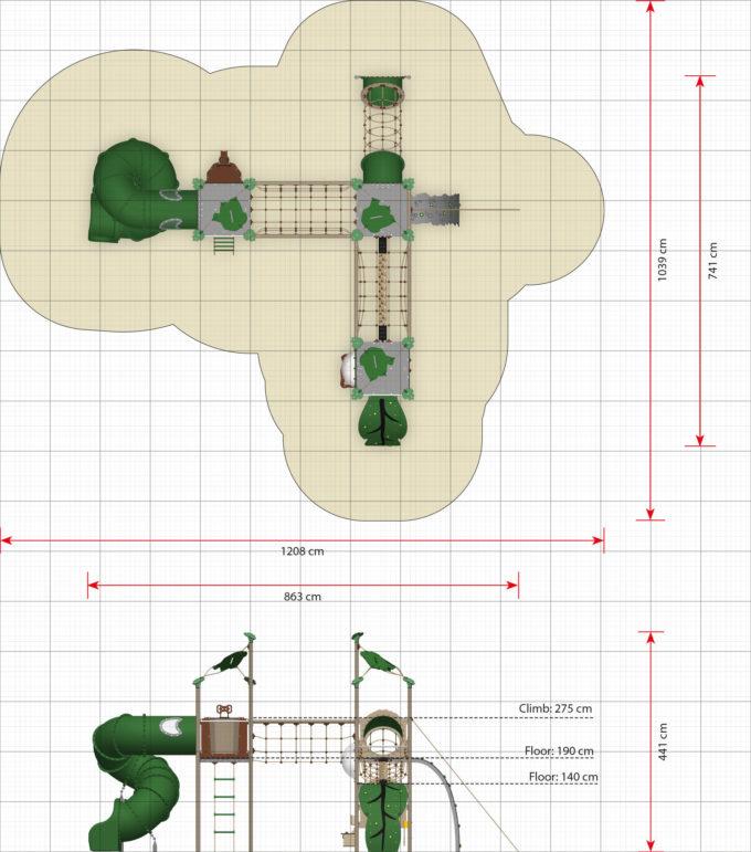 Kletter-Spielanlage Cuzco mit Spiralröhrenrutsche - LEDON Explore - EX380 3