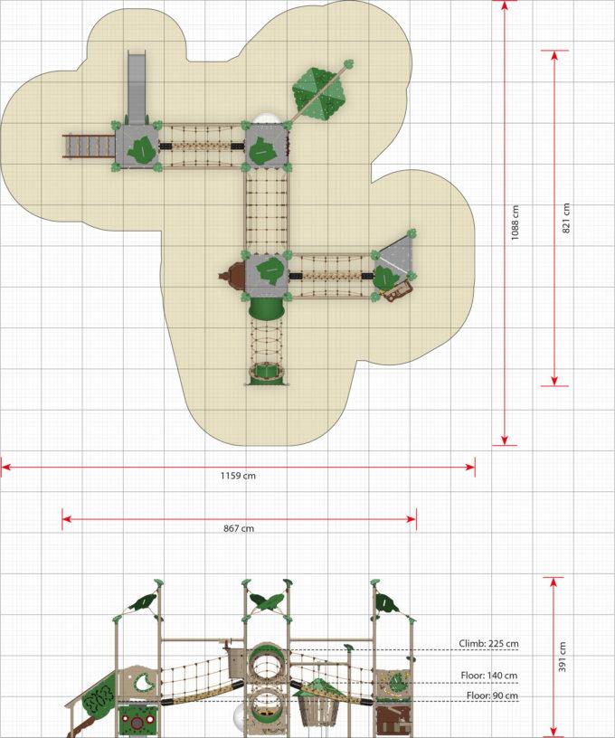 Große Kletter-Spielanlage Titan - LEDON Explore - EX450 4