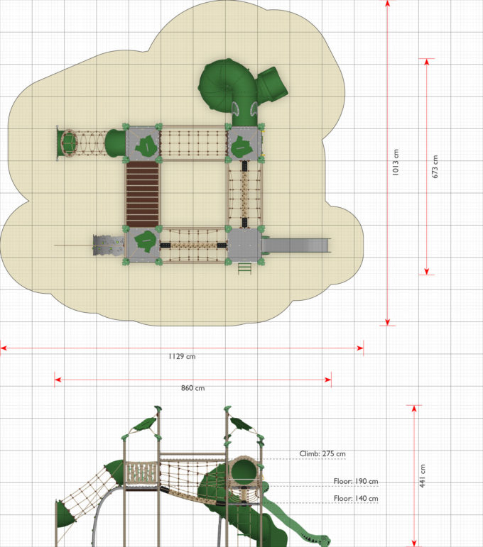 Spielanlagen-Kletterpark Saldor - LEDON Explore - EX460 2