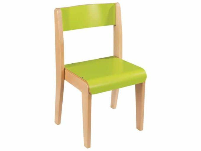 Kindergarten-Stuhl aus Holz in 5 Farben 1