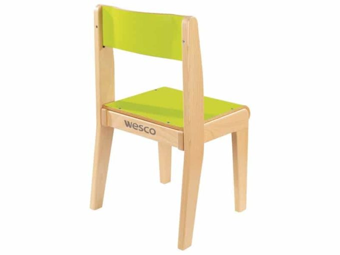 Kindergarten-Stuhl aus Holz mit Schrittstütze 2