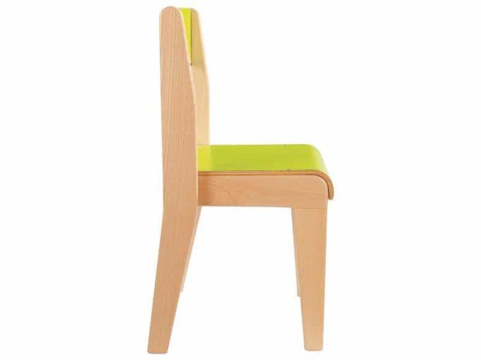 Kindergarten-Stuhl aus Holz mit Schrittstütze 3