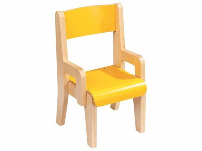 Kindergarten-Stuhl aus Holz mit Lehne 1