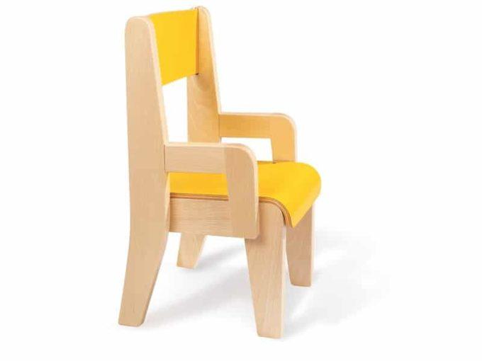 Kindergarten-Stuhl aus Holz mit Lehne 2