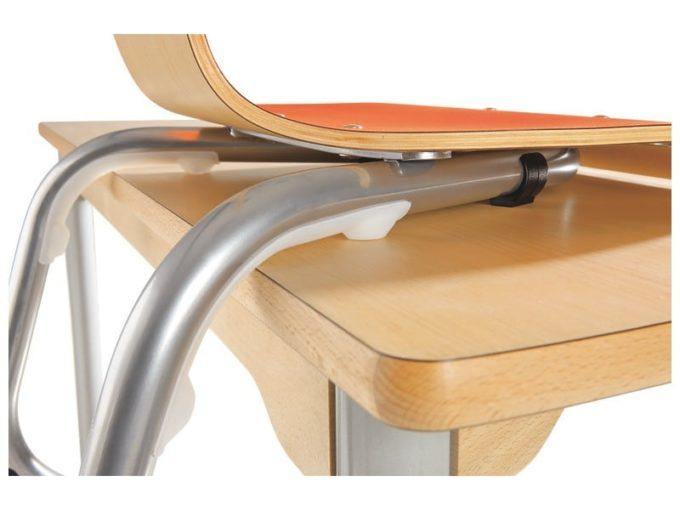 Schalenstuhl zum Aufstellen auf Tischen 7