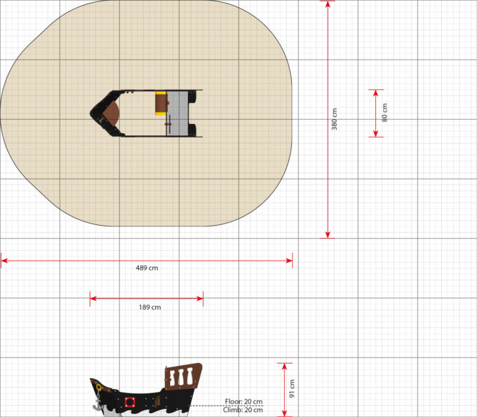 Spielhaus Mini-Piratenschiff Sally - LEDON Pirates 3
