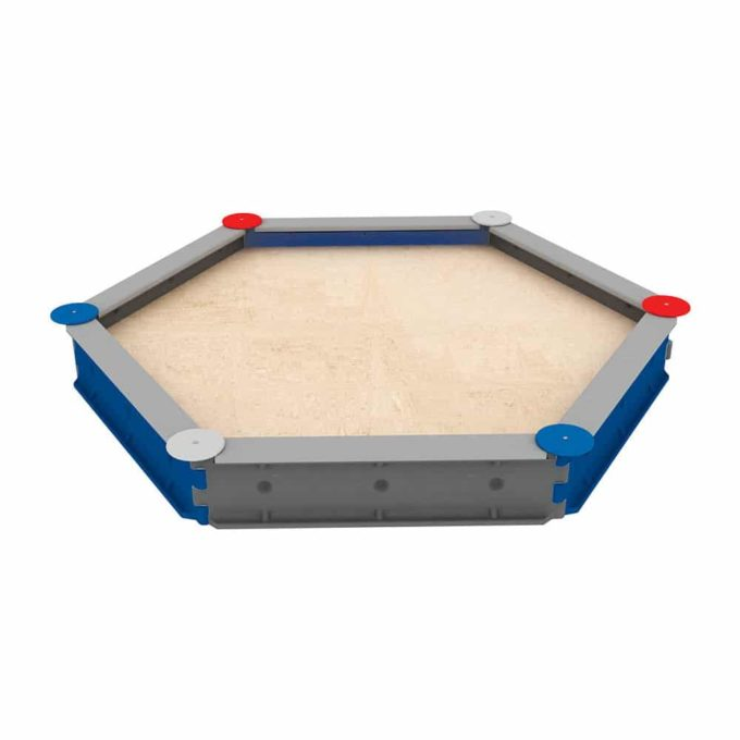 LEDON Sandkasten sechseckig mit 6 Seiten - verschiedene Ausführungen 1
