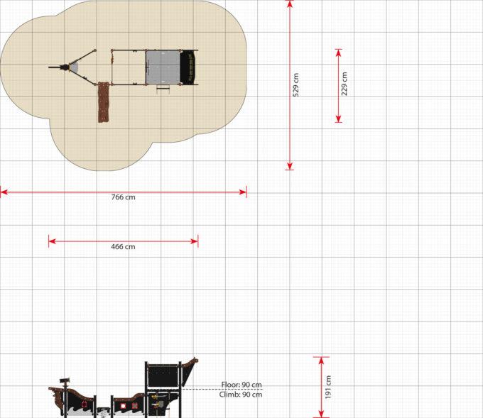 Mittelgroßes Piratenschiff aus der Serie LEDON Pirates - in verschiedenen Ausführungen 10