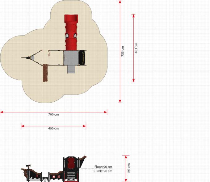 Mittelgroßes Piratenschiff aus der Serie LEDON Pirates - in verschiedenen Ausführungen 13
