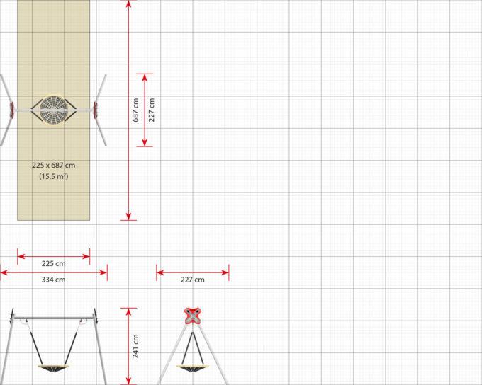 LEDON Vogelnest-Schaukel - verschiedene Ausführungen und Designs 15