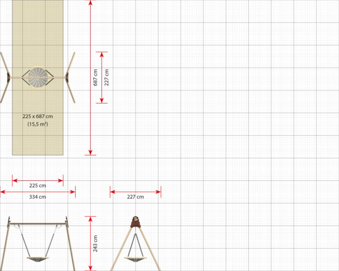 LEDON Vogelnest-Schaukel - verschiedene Ausführungen und Designs 14