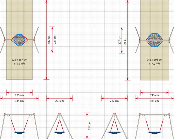 LEDON Vogelnest-Schaukel - verschiedene Ausführungen und Designs 13
