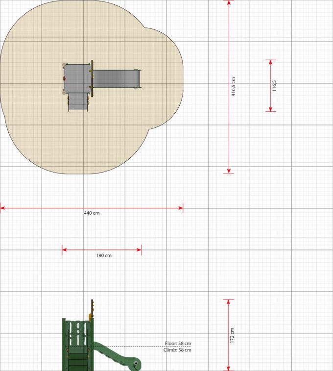 Kleiner Spielturm Anna - LEDON MiniPlay - MP120 2