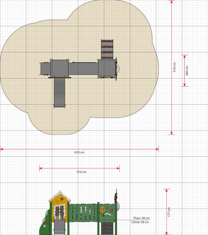 Doppelturm-Spielplatz Jonas - LEDON MiniPlay - MP210 3