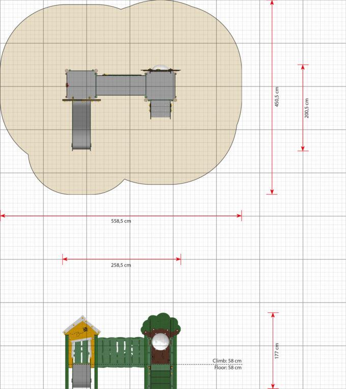 Doppelturm-Spielplatz Ella - LEDON MiniPlay - MP220 2