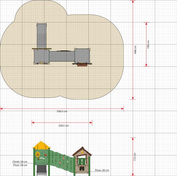 Doppelturm-Spielanlage Olivia - LEDON MiniPlay - MP250 2