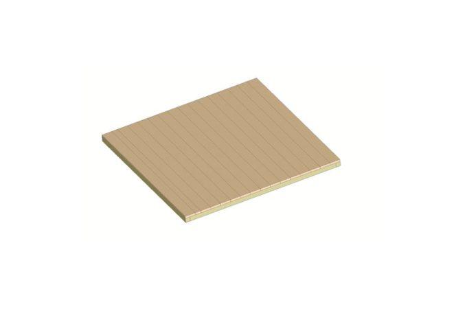 Bodenplatte für Indianerzelt - kleiner Bison 1