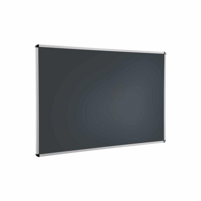 Wandtafel schwarz mit Aluprofilrahmen ohne Ablage 1