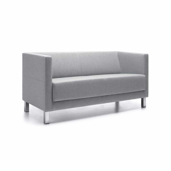 Sofa Victoria 2-Sitzer - Weißaluminium-Gestell 1