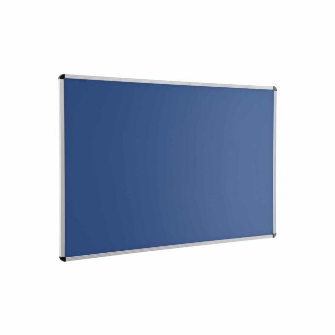 Wandtafel blau mit Aluprofilrahmen ohne Ablage 1