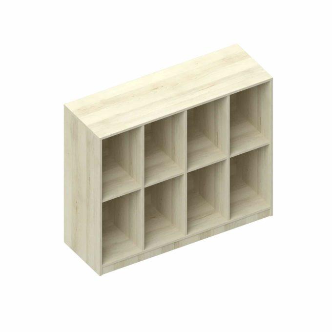 Taschenregal 8 Fächer - 4 nebeneinander und 2 übereinander 1