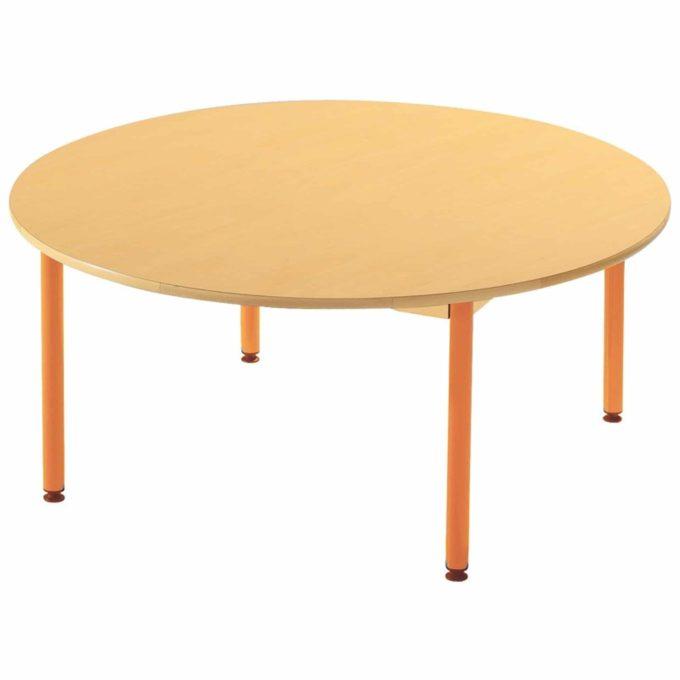 Tisch rund - mit geräuscharmer Platte mit Beinen aus Metall 1