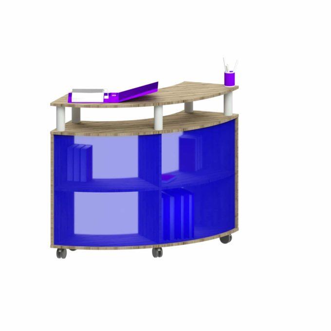 Empfangstresen Marlow - Rückwand im Innenradius, Acrylglas innen 1