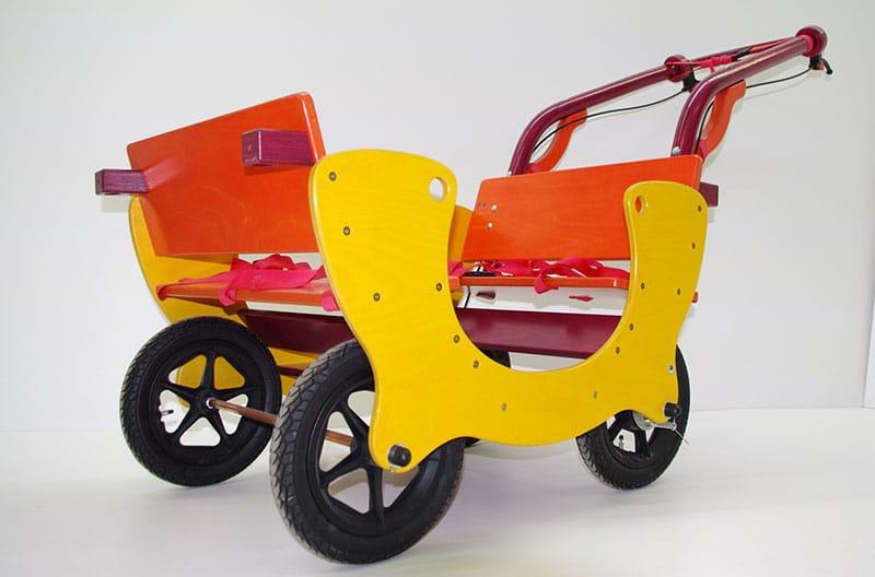 HAWAZUZIE Krippenwagen mit Motor 4-Sitzer (Starter) 16