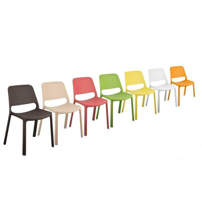 Friwa Kunststoff-Stapelstuhl in 8 Farben 1