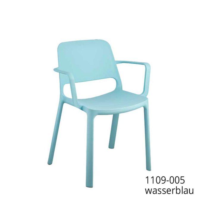 Friwa Kunststoff-Stapelstuhl mit Armlehnen in 8 Farben 6