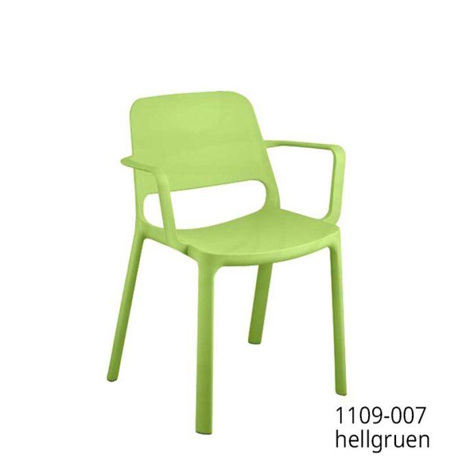 Friwa Kunststoff-Stapelstuhl mit Armlehnen in 8 Farben 8