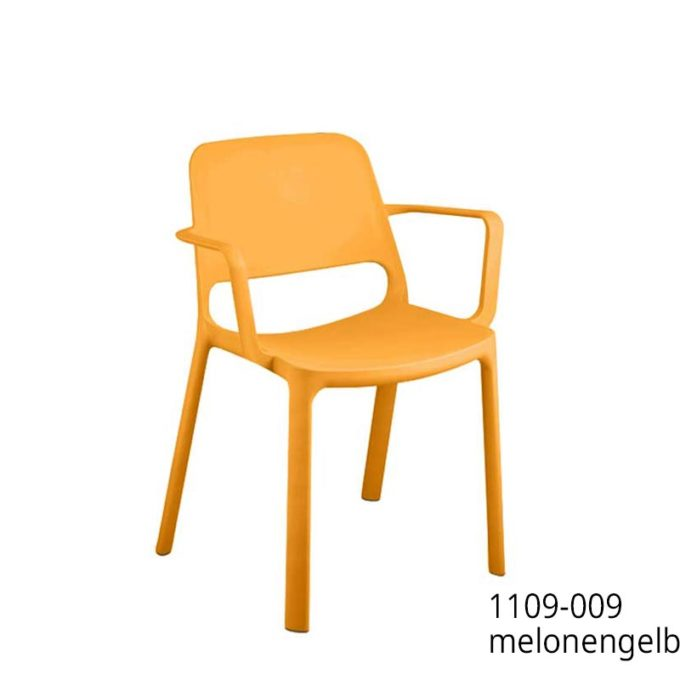 Friwa Kunststoff-Stapelstuhl mit Armlehnen in 8 Farben 9