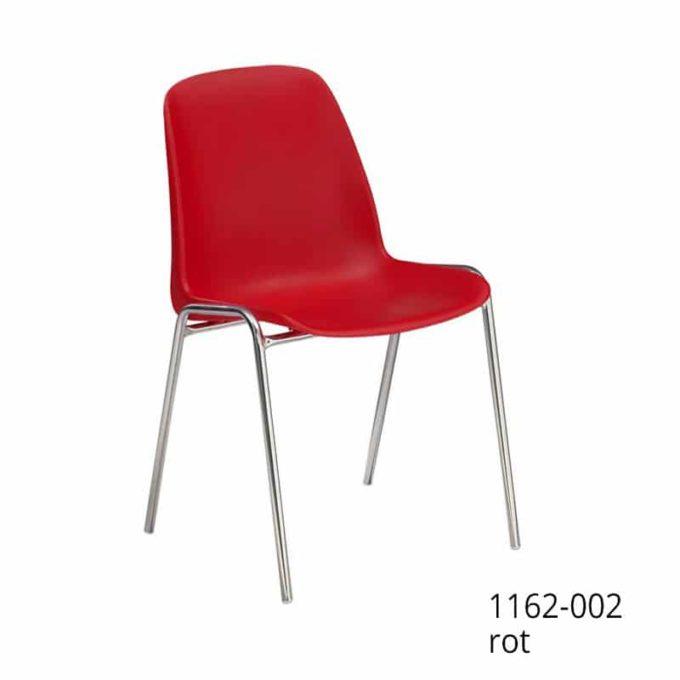 Friwa Schalen-Stapelstuhl in 11 Farben (mit oder ohne Reihenverbindung) 4
