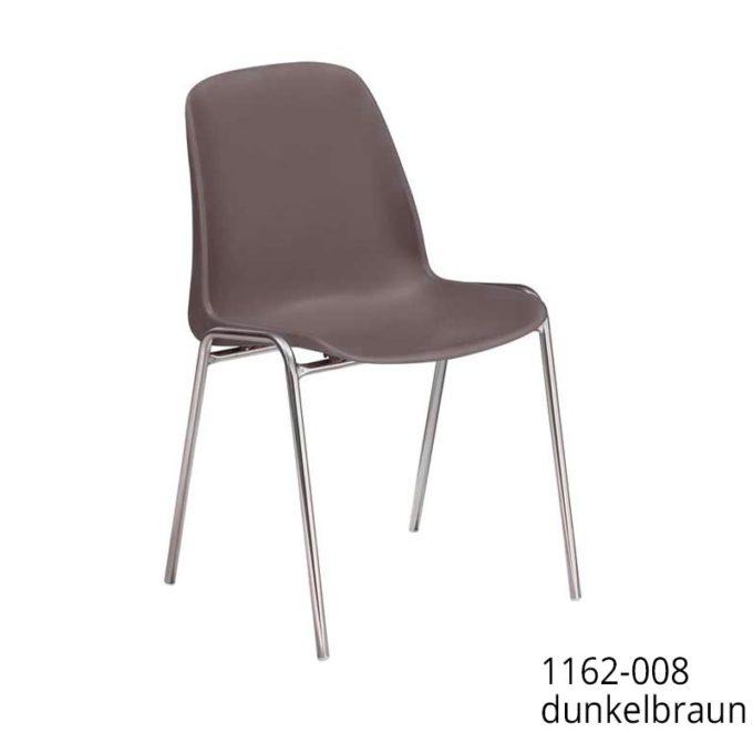 Friwa Schalen-Stapelstuhl in 11 Farben (mit oder ohne Reihenverbindung) 11