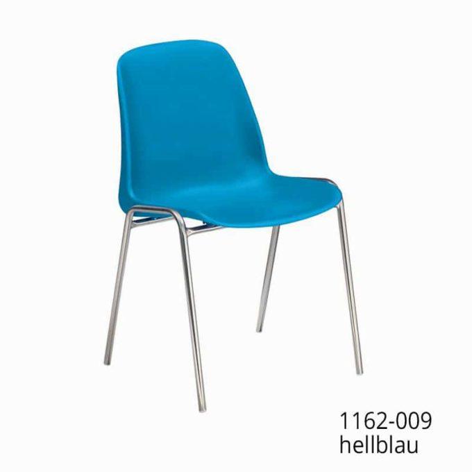 Friwa Schalen-Stapelstuhl in 11 Farben (mit oder ohne Reihenverbindung) 12