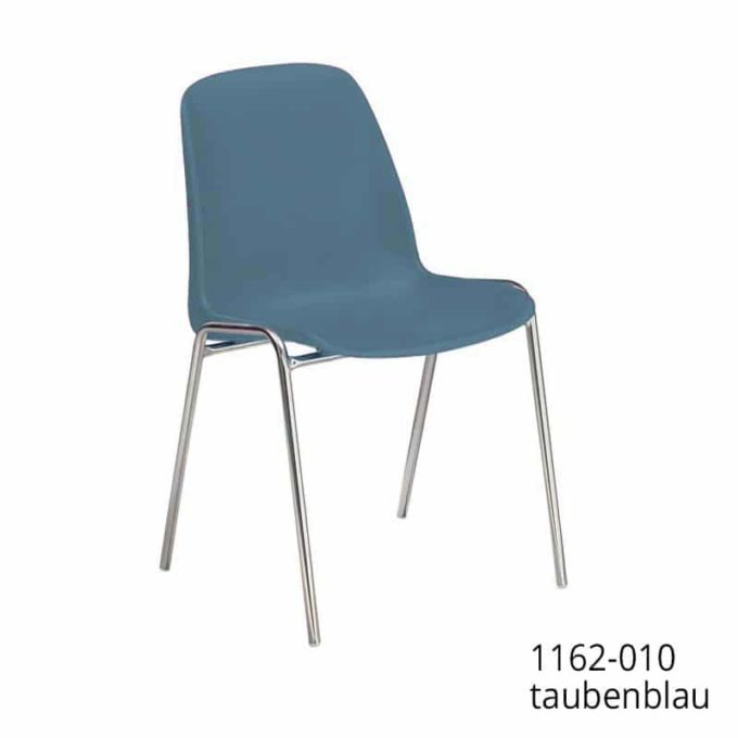 Friwa Schalen-Stapelstuhl in 11 Farben (mit oder ohne Reihenverbindung) 13