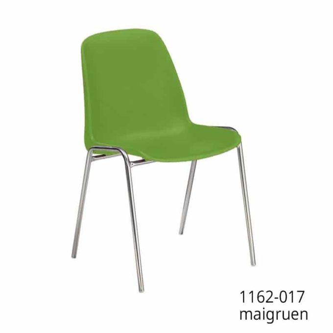 Friwa Schalen-Stapelstuhl in 11 Farben (mit oder ohne Reihenverbindung) 14