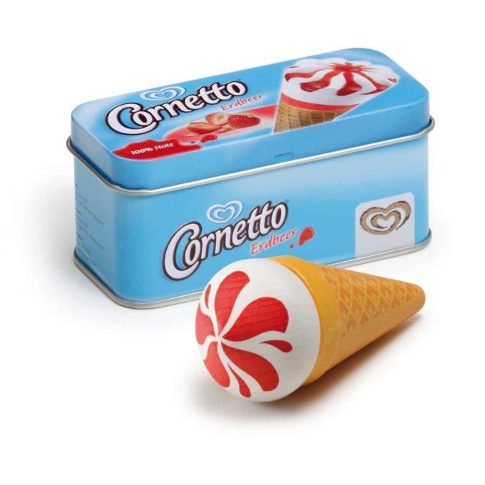 Kaufladenartikel - Eis Cornetto Erdbeer in der Dose (3 Stück) 1