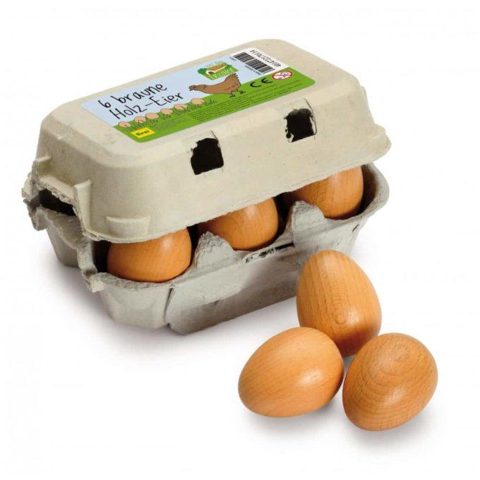 Kaufladenartikel - Eier - braun im Karton (3 Stück) 1