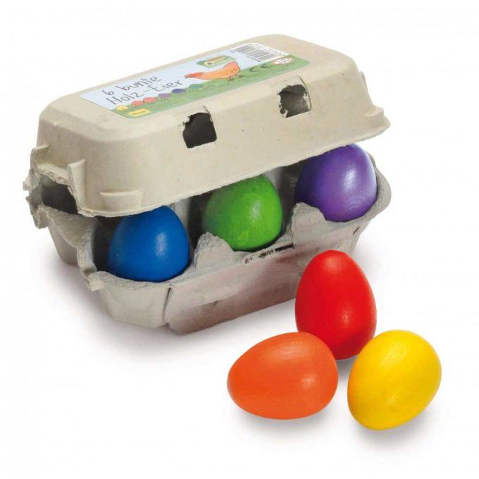 Kaufladenartikel - Eier - bunt im Karton (3 Stück) 1