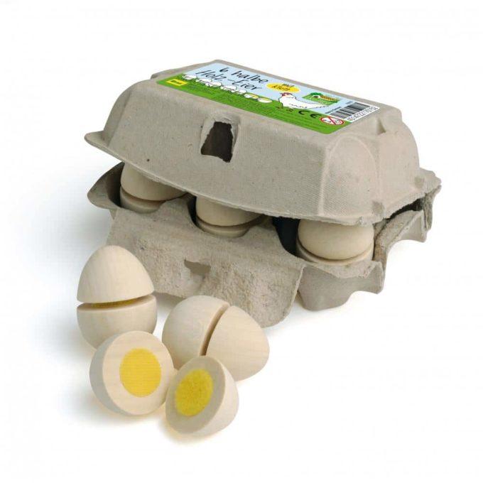 Kaufladenartikel - Eier zum Schneiden im Karton 1