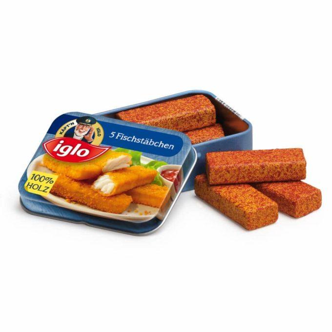 Kaufladenartikel - Fischstäbchen von Iglo in der Dose (3 Stück) 1