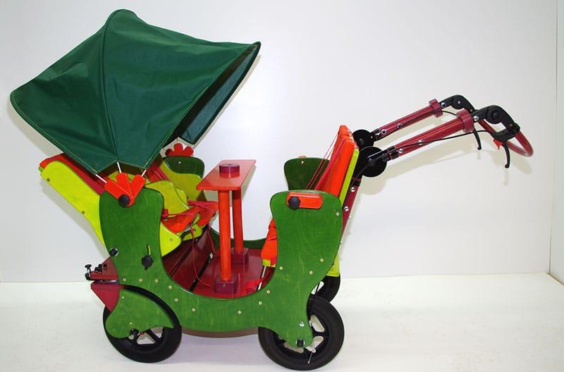 HAWAZUZIE Krippenwagen mit Motor 4-Sitzer (Starter) 17