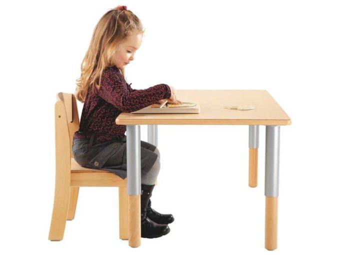 Verstellbarer Tisch rechteckig 50x60 cm - mit beschichteter Platte 5